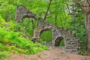 Forest Castle Ruins by somadjinn