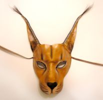 Caracal Wildcat Leather Mask by teonova