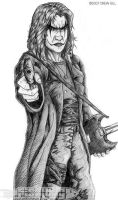 Eric Draven - character study2 by DrewGill