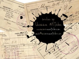 Antique Tax Receipts by UncommonARTicles