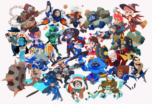 Overwatch Anniversary by Art-Calavera