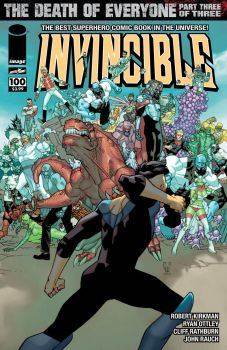 Invincible 100 (cover B) by corenthal