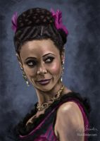 Thandie Newton as Maeve in Westworld by martianpictures