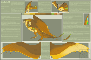 Garm 1.0 reference sheet by Syvaender