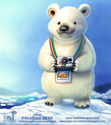 Daily Paint 1929# Polaroid Bear by Cryptid-Creations