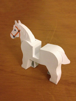 LEGO paperfigures Horse by kspudw