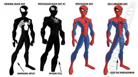 The Spectacular Spider-Man Suits by FredtheDinosaurman