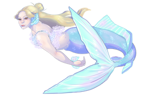 (Commission) Mermaid by rimonade