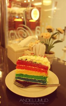Rainbow Cake by andelumud