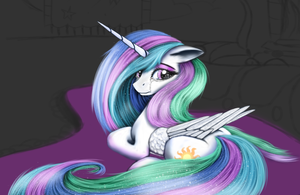 Sad Celestia [WIP] by Pony-Stark