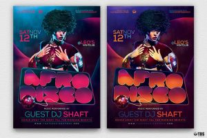 Afro Disco Flyer Template by Thats-Design