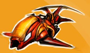 Jetbike rough sketch by RougeSpark