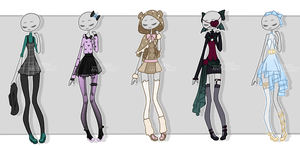 Gachapon outfits 20 by kawaii-antagonist