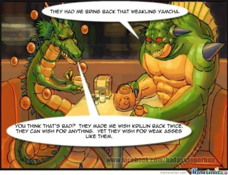 Tea with Shenron and Porunga by badasssuperbuu