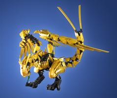 Commission: Ninjago Golden Dragon by retinence