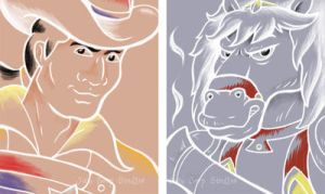 Marshal BraveStarr and Thirty Thirty by JellySoupStudios