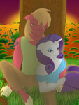 Rarimac Nap on the sunset orchard by CrimsonGlow