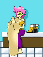 Pavla's Sexy Foot Tease (Updated) by LeinadWorks