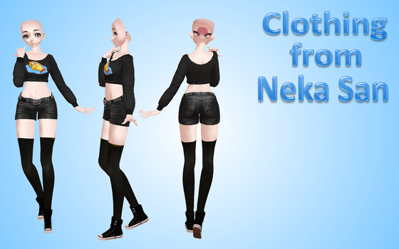 costume from Neka San MMD by NekaSan