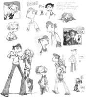 Psychonauts Sketchdump by halley42