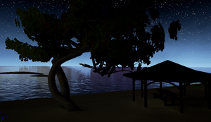 Night Time On Wahoo beach 1 by Pumpkin-Online
