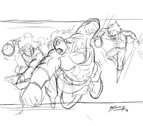 Broly unleashed Sketch by JazylH