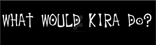 What Would Kira Do Bumper Sticker for Death Note by lawrencebrenner