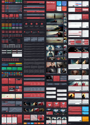 Flat Drop - Awesome Flat User Interface Kit by begha