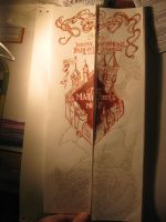 Front of Marauder's Map by EbonyHeart719
