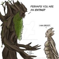 Groot meets Treebeard by cathybytes