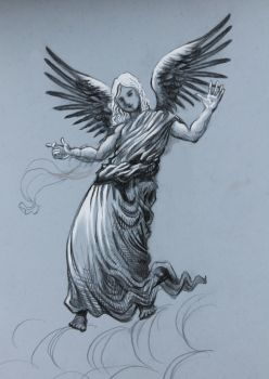 Angel Pencil Drawing by DivineLightAngels