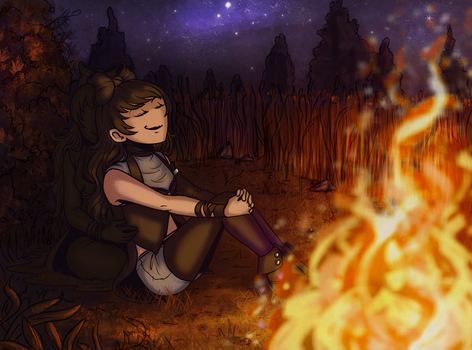 As the fire softly crackled (commission) by LuuPetitek