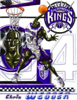 KINGS PF No. 4 Chris Webber by YoshioKun13