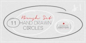 11 Hand Drawn Circle Brushes by Obeyshi