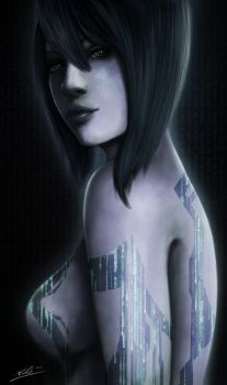 Cortana Portrait by Tr1gg3r117