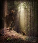 Hiding in the Trees by gusti-boucher