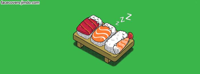 Sleeping Sushi - FacebooK Cover by rockIT-RH