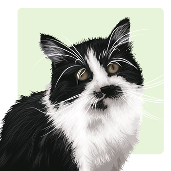 Sir Charles The Cat by flatfourdesign