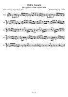 Deku Palace Sheet Music for Flute by drakon-thedragon