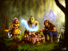 Forest Clearing Picnic by kaio89