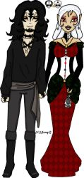 Monster High-  Lady Luck and Sir Misfortune by Celene-Gabriel