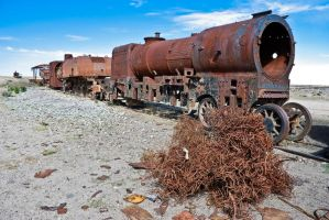 Graveyard of trains by Yupa