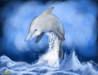 Teh Dolphin of Blue by HolyPineapple