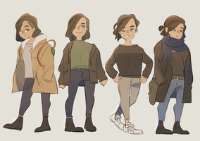 winter outfits by eszart