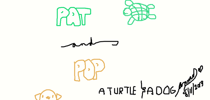 Pat and Pop: A turtle and a dog by nic19icecream