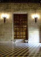 Valencia 14 - Medieval room and door by HermitCrabStock