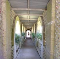 Atalaya Castle Covered Walkway 1 Stock by DLR-Designs