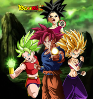 Goku Caulifla Kale and Kefla Wallpaper by daimaoha5a4