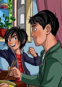 Tadashi and Hiro - Colored by Starimo