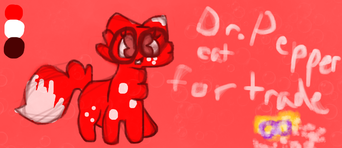 Dr. Pepper cat for trade! by Coffeewind